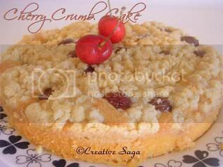 Cherry crumb cake 1