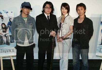 From left: Suga Takamasa, Tak Sakaguchi, Takeuchi Yuhki, Shimomura Yji